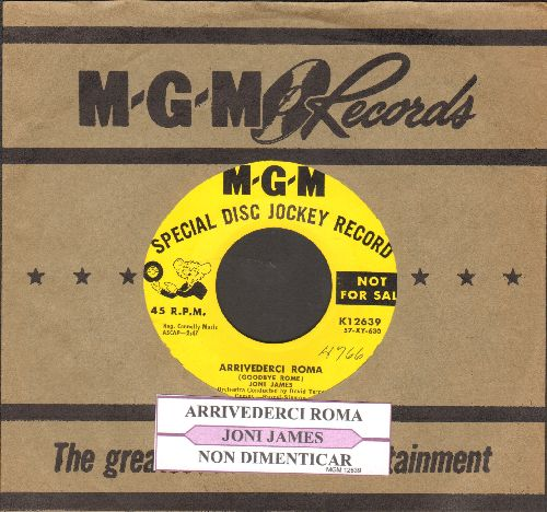 James, Joni - Arrivederci Roma/Non Dimenticar (DJ advance pressing with MGM company sleeve) - EX8/ - 45 rpm Records