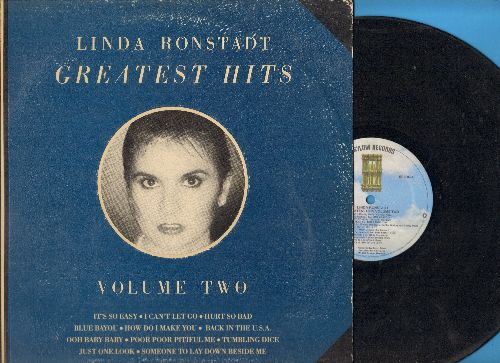 Ronstadt, Linda - Greatest Hits Volume 2: Blue Bayou, It's Not Easy, Hurts So Bad, Tumbling Dice, Just One Look (vinyl STEREO LP record, gate-fold cover) - EX8/VG7 - LP Records
