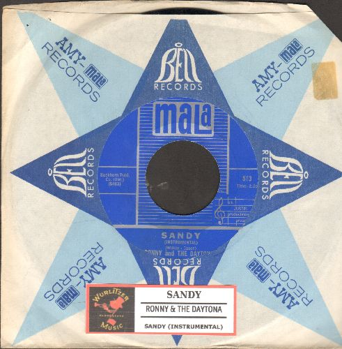 Ronny & The Daytonas - Sandy/Sandy (Instrumental) (with juke box label and company sleeve) - NM9/ - 45 rpm Records