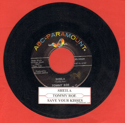 Roe, Tommy - Sheila/Save Your Kisses (with juke box label) - NM9/ - 45 rpm Records