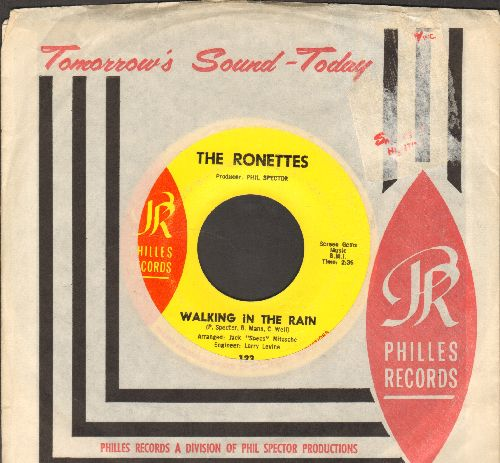 Ronettes - Walking In The Rain/How Does It Feel (with RARE Philies company sleeve) - NM9/ - 45 rpm Records