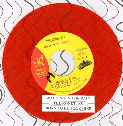 Ronettes - Walking In The Rain/Born To Be Together (RED VINYL double-hit re-issue and juke box label) - NM9/ - 45 rpm Records