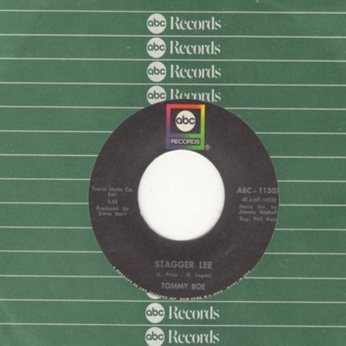 Roe, Tommy - Stagger Lee/Back Streets And Alleys (with ABC company sleeve) - NM9/ - 45 rpm Records