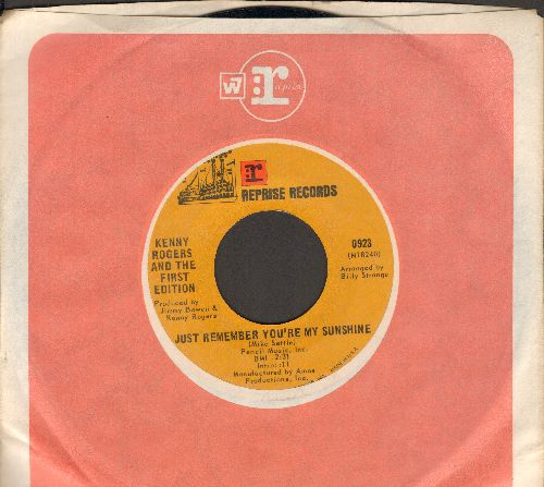 Rogers, Kenny & The First Edition - Just Remember You're My Sunshine/Tell It All Brother (with Reprise company sleeve) - NM9/ - 45 rpm Records