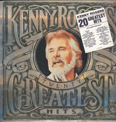 Rogers, Kenny - 20 Greatest Hits: Lucille, Lady, She Believes With Me, The Gambler, Coward Of The County, Through The Years (Vinyl STEREO LP record) - EX8/EX8 - LP Records