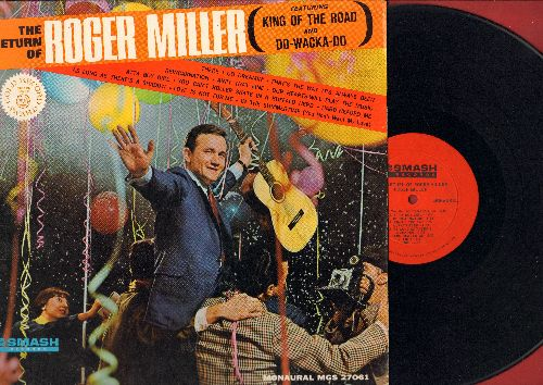 Miller, Roger - The Return Of Roger Miller: King Of The Road, Do-Wacka-Do, You Can't Roller Skate In A Buffalo Herd, There I Go Dreamin' (Vinyl STEREO LP record) - M10/EX8 - LP Records