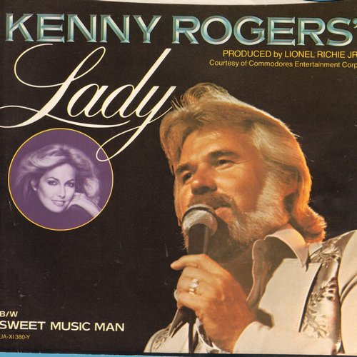 Rogers, Kenny - Lady/Sweet Music Man (with picture sleeve) - NM9/EX8 - 45 rpm Records