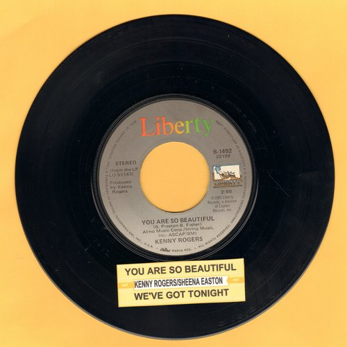 Rogers, Kenny - You Are So Beautiful/We've Got Tonight (with juke box label) - EX8/ - 45 rpm Records
