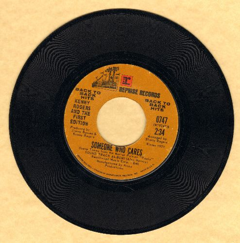 Rogers, Kenny & The First Edition - Someone Who Cares/Mission Of San Nohero (double-hit re-issue) - NM9/ - 45 rpm Records
