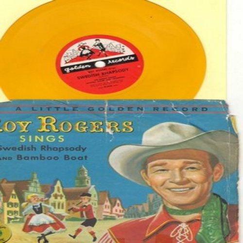 Rogers, Roy - Swedish Rhapsody (Petersburger Schlittenfahrt)/Bamboo Boat (RARE vintage78rpm  Little Golden Record with picture sleeve) - VG7/G5 - 78 rpm