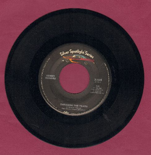 Rogers, Kenny - Through The Years/I Don't Need You (double-hit re-issue) - NM9/ - 45 rpm Records