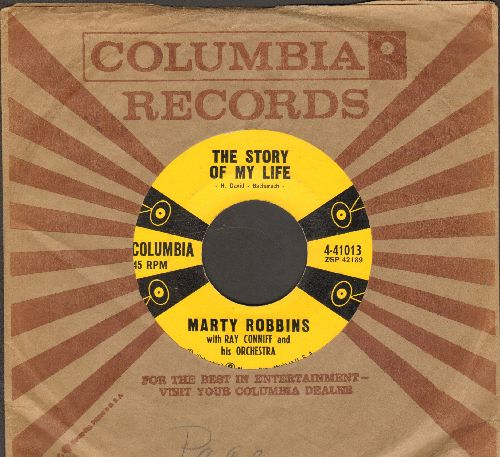 Robbins, Marty - The Story Of My Life/Once-A-Week Date (with vintage Columbia company sleeve) - EX8/ - 45 rpm Records