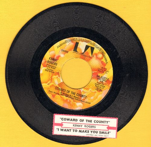 Rogers, Kenny - Coward Of The County/I Want To make You Smile (with juke box label - NM9/ - 45 rpm Records
