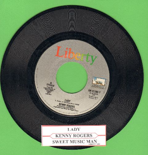 Rogers, Kenny - Lady/Sweet Music Man (with juke box label) - EX8/ - 45 rpm Records