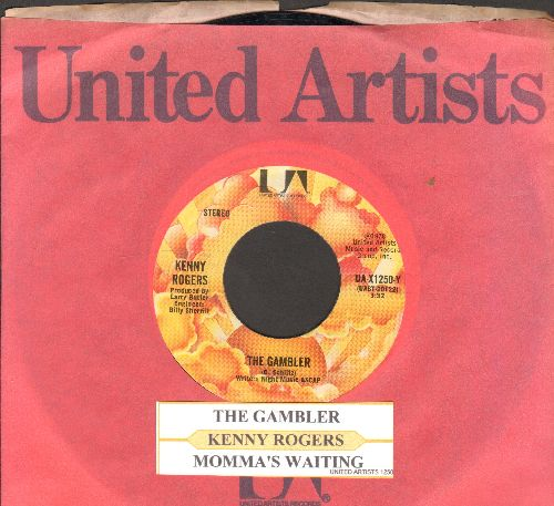 Rogers, Kenny - The gambler/Momma's Waiting (with juke box label and company sleeve) - NM9/ - 45 rpm Records