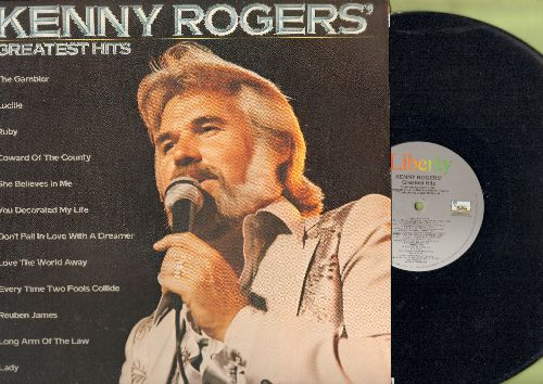 Rogers, Kenny - Greatest Hits: Lucille, The Gambler, Coward Of The County, You Decorated My Life, Lady (vinyl STEREO LP record) - NM9/NM9 - LP Records