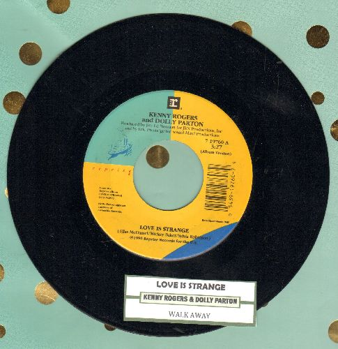 Rogers, Kenny & Dolly Parton - Love Is Strange/Walk Away (with juke box label) - NM9/ - 45 rpm Records