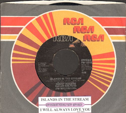 Rogers, Kenny & Dolly Parton - Islands In The Stream/I Will Always Love You (with juke box label and company sleeve) - EX8/ - 45 rpm Records