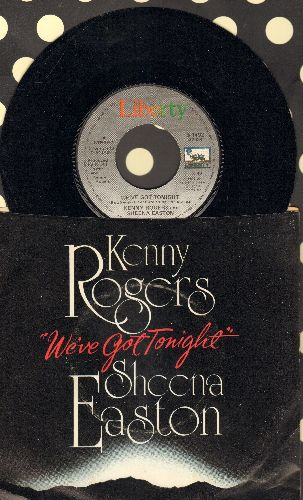 Rogers, Kenny & Sheena Easton - We've Got Tonight/You Are So Beautiful (NICE cover version of Joe Cocker Signature-Song!) (with picture sleeve) - NM9/EX8 - 45 rpm Records