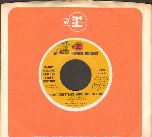 Rogers, Kenny & The First Edition - Ruby, Don't Take Your Love To Town/Girl Get Ahold Of Yourself (with Reprise company sleeve) - NM9/ - 45 rpm Records