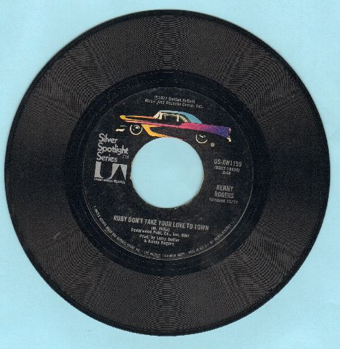 Rogers, Kenny - Ruby Don't Take Your Love To Town/Sweet Music Man (double-hit re-issue) - EX8/ - 45 rpm Records