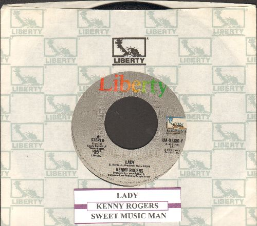 Rogers, Kenny - Lady/Sweet Music Man (with Liberty company sleeve) - EX8/ - 45 rpm Records