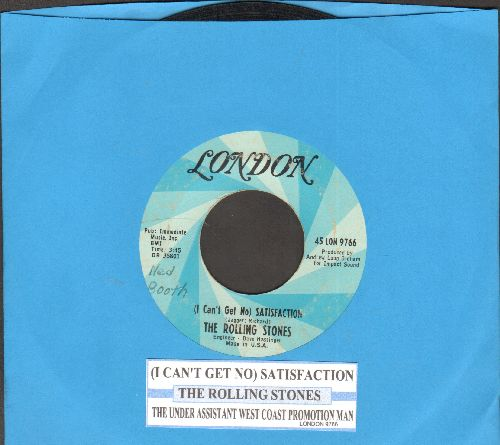 Rolling Stones - (I Can't Get No) Satisfaction/The Under Assistant West Coast Promotion Man (with juke box label) - VG7/ - 45 rpm Records