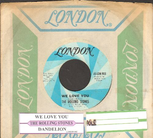 Rolling Stones - We Love You/Dandelion (with vintage London company sleeve and juke box label) - EX8/ - 45 rpm Records