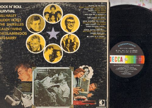 Haley, Bill, Buddy Holly, Shirelles, Len Barry, others - Rock N' Roll Survival: Rock Around The Clock, Lpeggy Sue, I Met Him On A Sunday, 1-2-3, When (vinyl STEREO LP record, 1970 issue of vintage recordings) - NM9/VG7 - LP Records