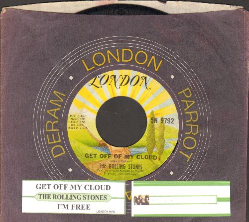 Rolling Stones - Get Off Of My Cloud/I'm Free (re-issue with  London company sleeve and juke box label) - NM9/ - 45 rpm Records