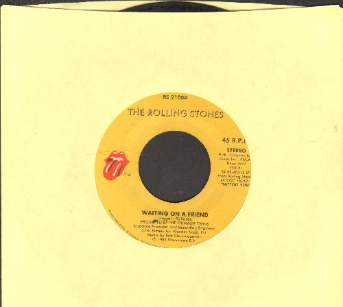 Rolling Stones - Waiting On A Friend/Little Y. & A.  - VG7/ - 45 rpm Records