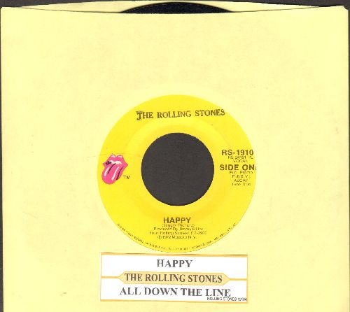 Rolling Stones - Happy/All Down The Line (with juke box label) - NM9/ - 45 rpm Records