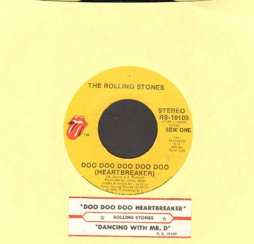 Rolling Stones - Doo Doo Doo Doo Doo (Heartbreaker)/Dancing With Mr. D. (with juke box label) - EX8/ - 45 rpm Records