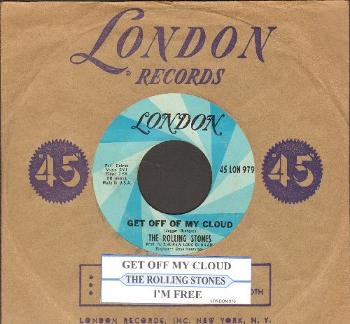 Rolling Stones - Get Off Of My Cloud/I'm Free (with juke box label and company sleeve) - EX8/ - 45 rpm Records