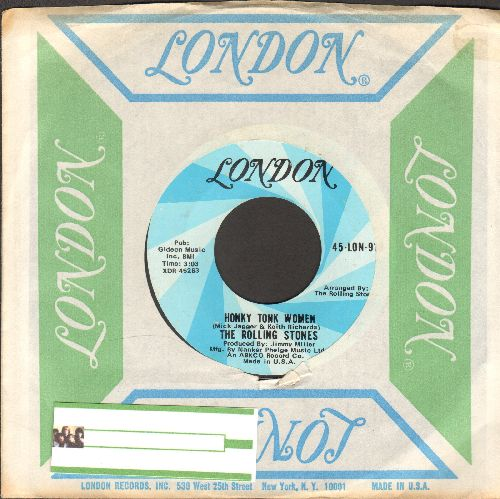 Rolling Stones - Honky Tonk Women/You Can't Always Get What You Want (with London company sleeve) - NM9/ - 45 rpm Records