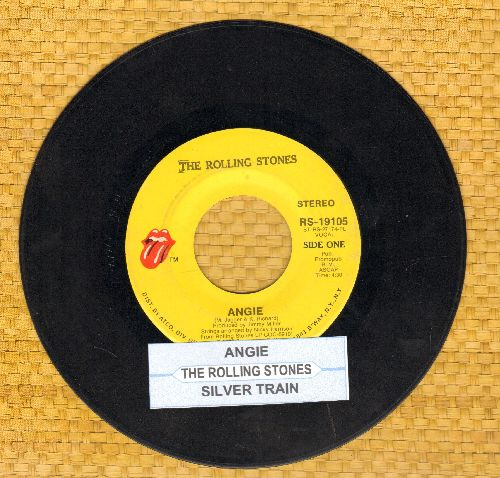 Rolling Stones - Angie/Silver Train (with juke box label) - VG7/ - 45 rpm Records