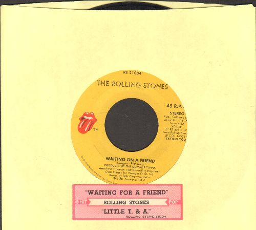 Rolling Stones - Waiting On A Friend/Little Y. & A. (with juke box label) - VG7/ - 45 rpm Records