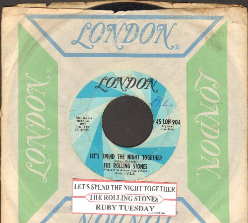 Rolling Stones - Let's Spend The Night Together/Ruby Atuesday (with juke box label and London company sleeve) - VG7/ - 45 rpm Records