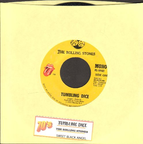 Rolling Stones - Tumbling Dice/Sweet Black Angel (with juke box label) - EX8/ - 45 rpm Records