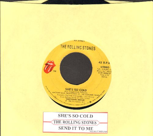 Rolling Stones - She's So Cold/Send It To Me (with juke box label) - VG7/ - 45 rpm Records