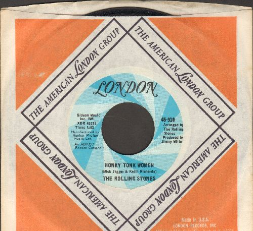 Rolling Stones - Honky Tonk Women/You Can't Always Get What You Want (with London company sleeve) - EX8/ - 45 rpm Records