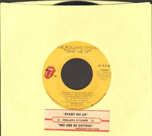 Rolling Stones - Start Me Up/No Use In Crying (with juke box label) - VG7/ - 45 rpm Records