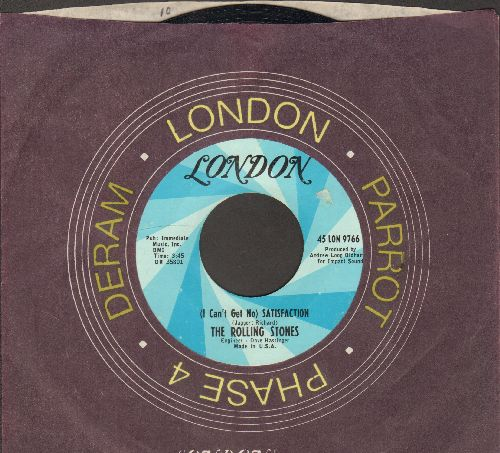 Rolling Stones - I Can't Get No Satisfaction/The Under Assistant West Coast Promotion Man (with vintage London company sleeve) - NM9/ - 45 rpm Records