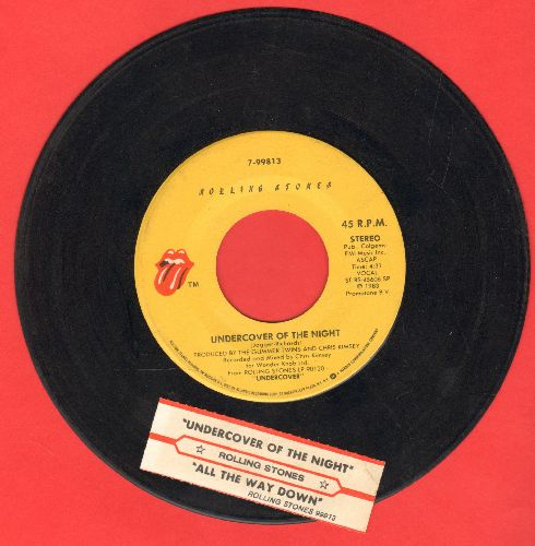 Rolling Stones - Undercover Of The Night/All The Way Down (with juke box label) - NM9/ - 45 rpm Records