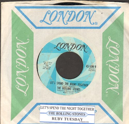 Rolling Stones - Let's Spend The Night Together/Ruby Tuesday (with  London company sleeve and juke box label) - EX8/ - 45 rpm Records