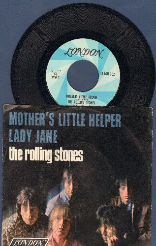 Rolling Stones - Mother's Little Helper/Lady Jane (with picture sleeve) - EX8/VG7 - 45 rpm Records