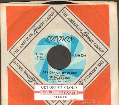 Rolling Stones - Get Off Of My Cloud/I'm Free (with  London company sleeve and juke box label) - VG7/ - 45 rpm Records