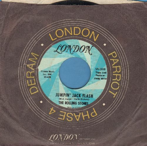 Rolling Stones - Jumpin' Jack Flash/Child Of Thye Moon (with London company sleeve) - VG7/ - 45 rpm Records