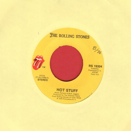 Rolling Stones - Hot Stuff/Fool To Cry - EX8/ - 45 rpm Records