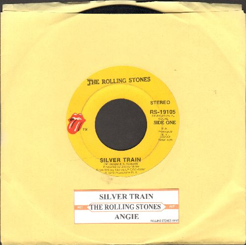 Rolling Stones - Silver Train/Angie (with juke box label) - VG7/ - 45 rpm Records